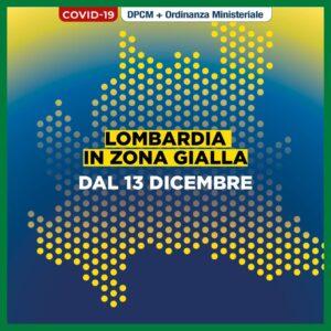 Coronavirus – Misure valide nella Regione Lombardia dal 13 dicembre